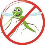 Mücke und Befestigungselemente